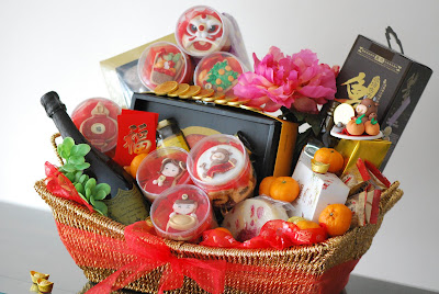 1 year of the ox token with sugar adorable mini mandarins angpaus lotus roots mushrooms and a gold coin the tiny keepsake will be a nice touch to - Chinese New Year 2009