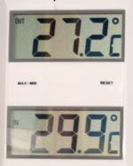 Temperaturen i dag