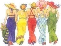 Fargerike damer