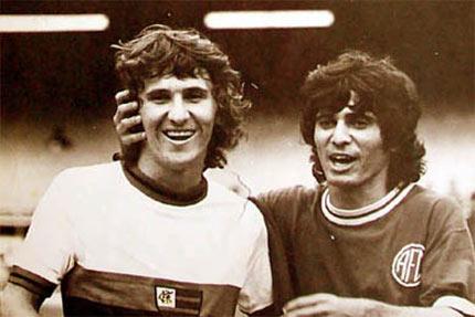 ... do Flamengo e Edu o mairo na historia do America RJ. Foto de 1975