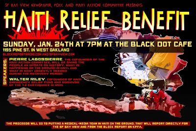 Haiti Relief Benefit at the Black Dot Cafe in West Oakland