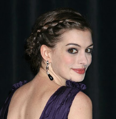 Anne Hathaway Braided Hairstyle GET SUPERMODEL WAVES