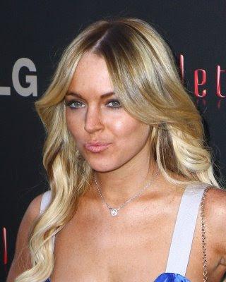 lindsay lohan haircut. Celebrity Lindsay Lohan Long