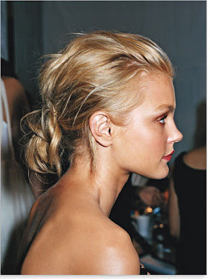 Fanned faux updo hairstyles are excellent for brides with short to medium
