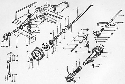 Corte esquemático do eixo traseiro do VW SP2