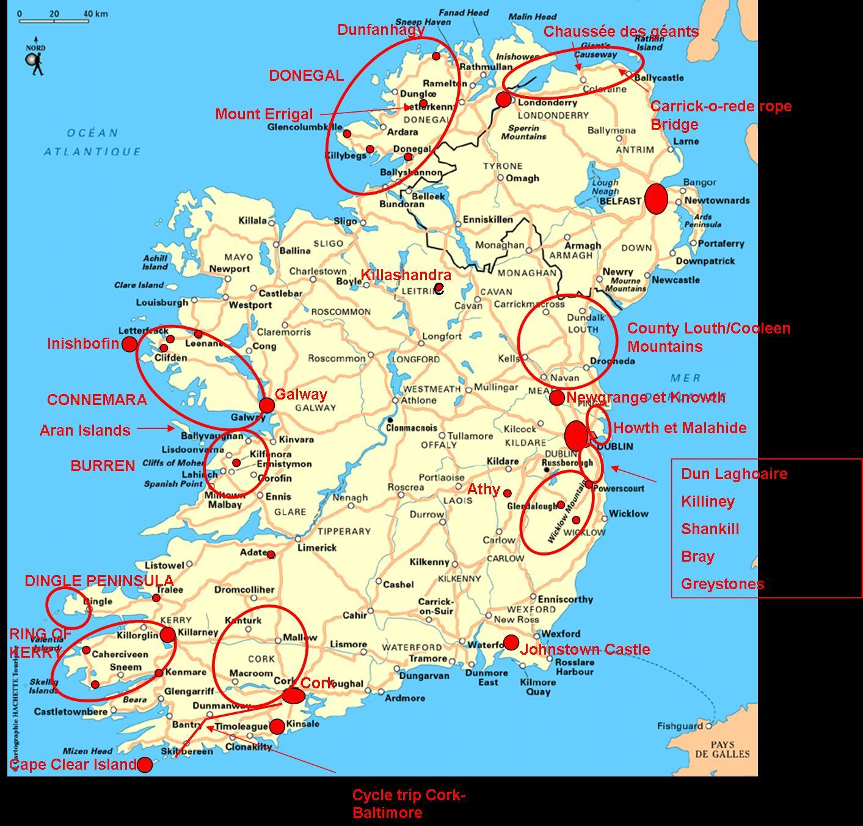 Carte Villes Irlande Du Sud