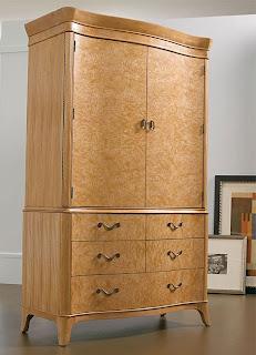 Thomasville White Ash Door Chest / TV Armoire