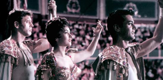 Burt Lancaster, Gina Lollobrigida e Tony Curtis