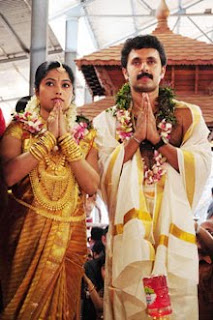 Vineeth Kumar married Sandhya images