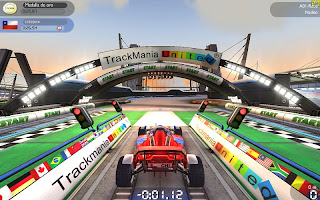 juego carrera Trackmania Nations