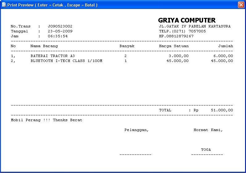 Griya Software Software Penjualan Program Kasir