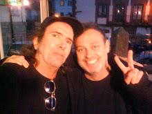 Con Pablo Carbonell que tuvo la amabilidad de venirse él hasta Cercedilla