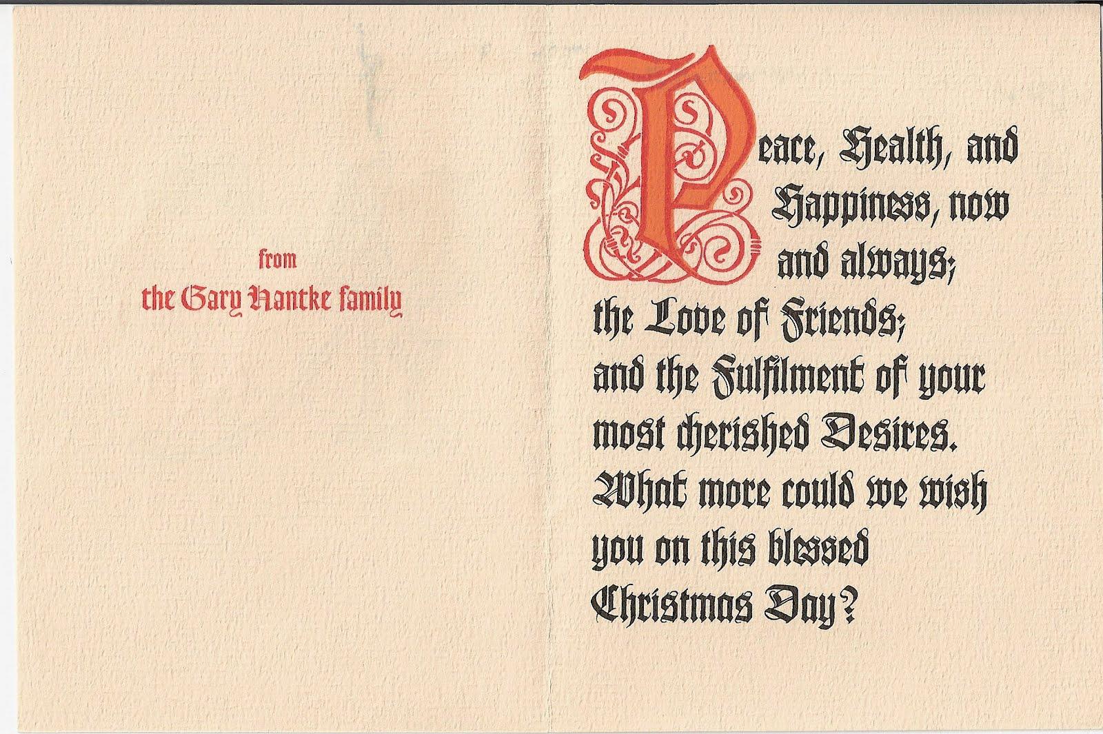 Lasting Impressions Hantke Family Christmas Cards