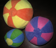 Play Ball - Set of 3 Fleece Balls