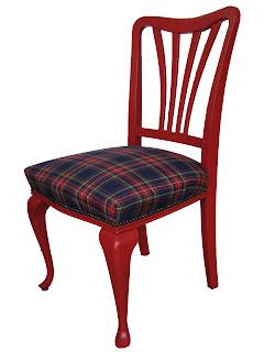 De wereld van fien schotse ruit stoel - Stoel rode huis van de wereld ...