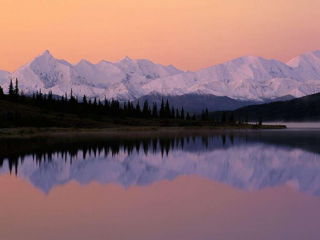 L Alba Sul Lago Wonder In Alaska Immagini E Sfondi Per Ogni Momento