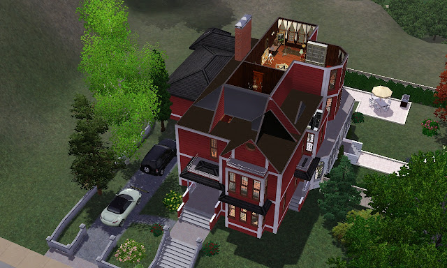 Cr ation sims 3 manoir halliwell for Conception de plans de manoir