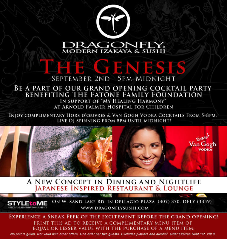 Dragonfly sushi orlando grand opening free sushi tasty for Anatolia mediterranean cuisine orlando