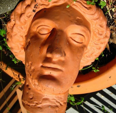 terra cotta grecian style head