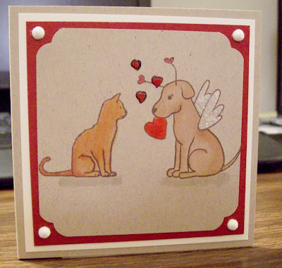This Cute Kitty And Pup Are In Two Of My Favorite Sets Sweet Labradore Love I Finished Off The Inside With Another Stamp From