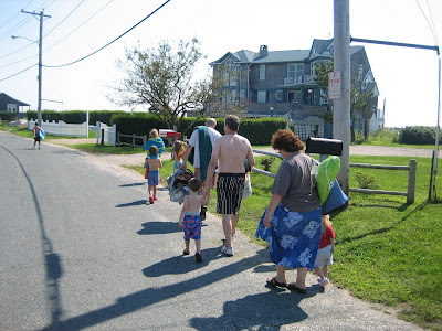 Walking to the Beach from the rental house