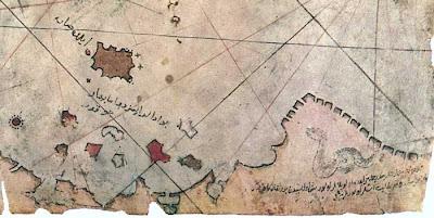 Piri Reis map, snake