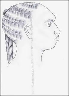 apparent reconstruction of Puebla Dorenberg skull person