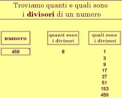 matematicamedie divisori in excel e numeri amicabili