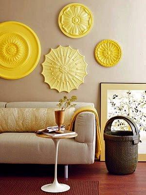 أنآقة ودفئ اللون الأصفر لان 2 Yellow Wall Art.jpg
