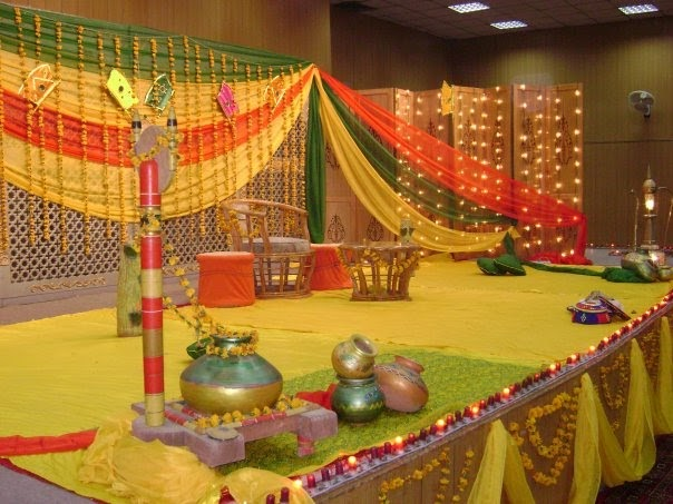Simple Mehndi Decoration At Home : Health & fashion today: mehndi function among pakistani marriages