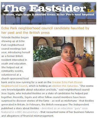 The latest article in The Eastsider