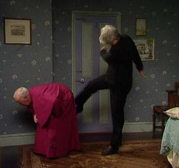 Kicking Father Brennan Up The Arse