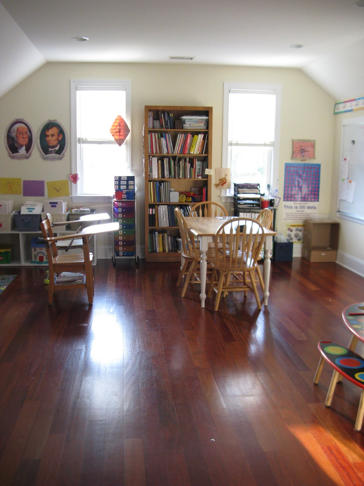 A slice of smith life not quite wordless wednesday our for Home school room ideas