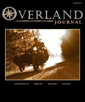 New Mexico Backroads featured in Fall 2010 Issue of Overland Journal