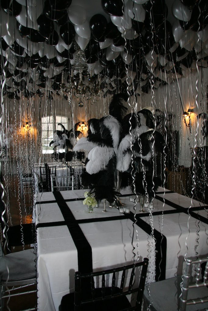 Ober onet associates truman capote black and white - Black silver and white party decorations ...
