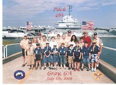 Pack Members aboard the Yorktown
