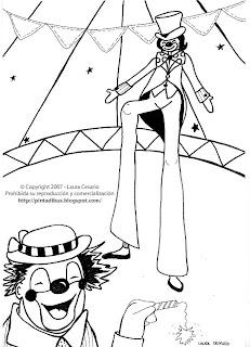 paint a drawing: Dibujo del circo para imprimir y colorear!