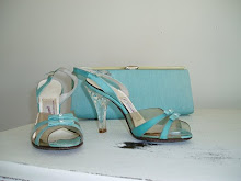 Vintage Blue Shoes and Purse