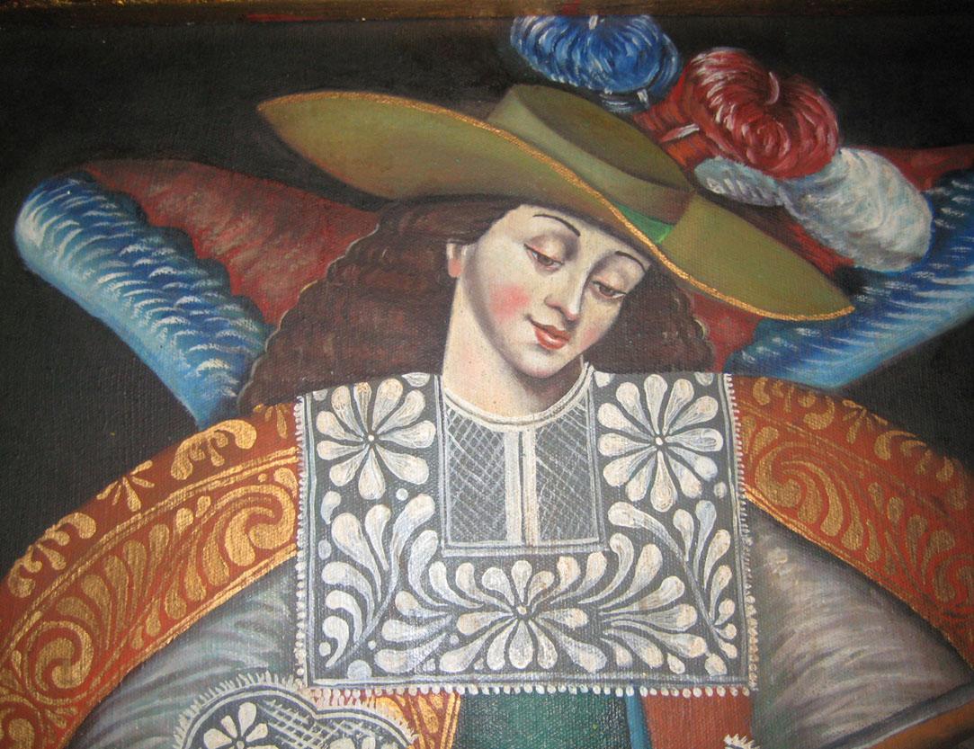 El quetzal de las indias cuadro colonial - Cuadros estilo colonial ...