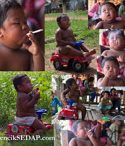 smoking 2 year old budak umur 2 tahun merokok
