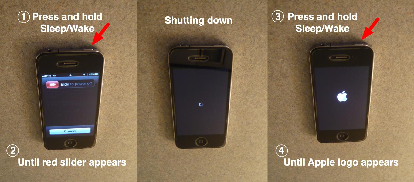 Как сделать reboot на айфоне