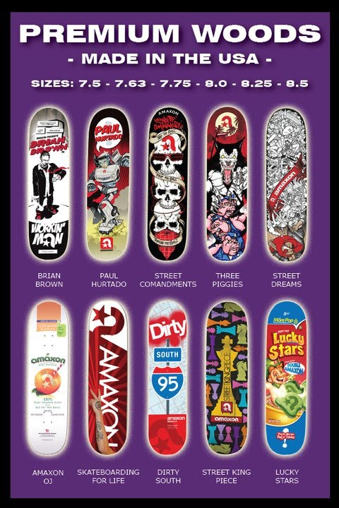 Amaxon skateboards