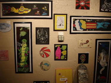 last years griptape art show my wall