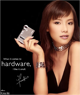 Fiona Xie's Casio Advertisement Photo / Poster