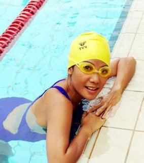 Fiona Xie in Swimsuit
