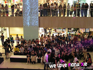The crowd at Far East Plaza