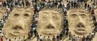 faces in the sand, yesterday