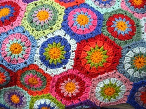 Copertine ad uncinetto: coperta ad uncinetto fatta ad esagoni!