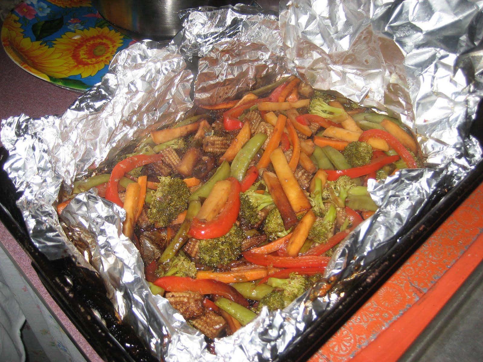 Papillote de l gumes l 39 orientale recette for Dorade en papillote au barbecue