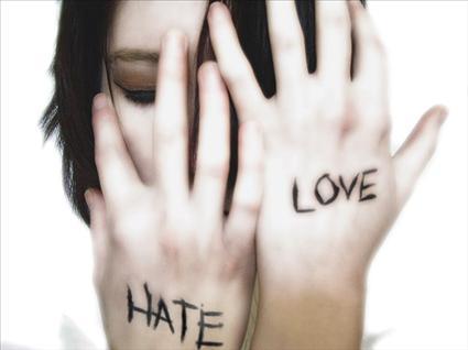 odias o amas